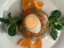 Karpfen mit Ei und Gemüse in Aspik - Rezept