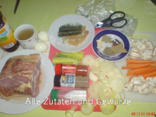 Kasslerbraten aus dem Bratenschlauch mit Kartoffelklößen - Rezept - Bild Nr. 2