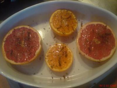Gebackene Grapefruits mit Honig - Rezept