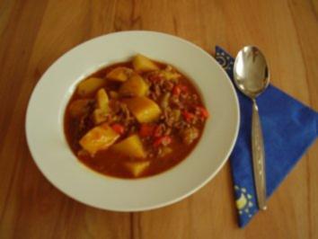 Hackfleisch-Kartoffel-Eintopf mit Paprika - Rezept