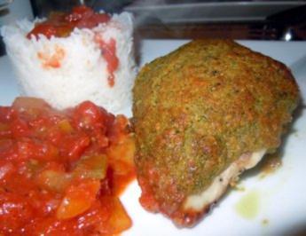 """Hähnchenbrust """"Genua"""" mit Paprika-Tomaten-Gemüse und Reis - Rezept"""