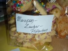 Weihnachten: Marzipan-Zucker-Plätzchen - Rezept