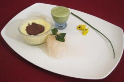 Eis von grünem Tee und Zitronengrassorbet - Rezept