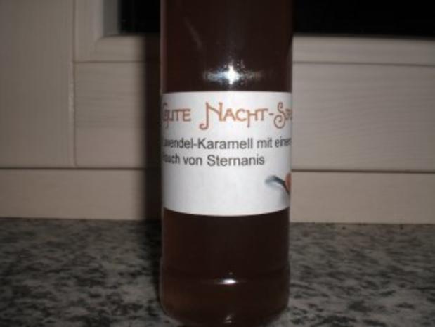 Gute-Nacht-Sirup - Lavendel-Karamell mit einem Hauch von Sternanis - Rezept