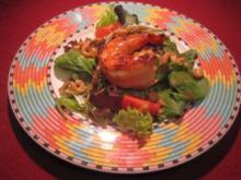 Gambas auf Frühlingssalaten - Rezept