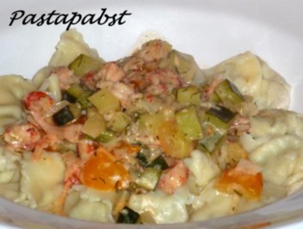 Lachs-Ricotta-Tortellini - Rezept