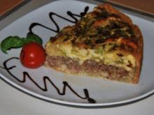 Nussige Hackfleisch-Rosenkohl-Tarte - Rezept