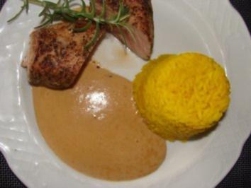 Fleisch : -Schweinefilet mit Sahnesauce- - Rezept