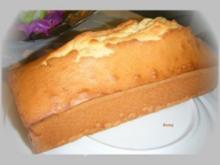 Schöner, gelber Rührkuchen - Rezept