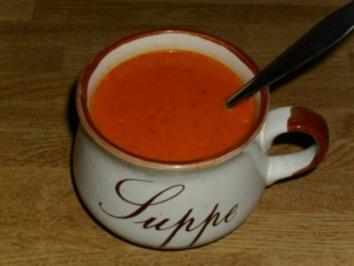 Scharfe Ajvar Suppe - Rezept
