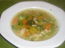 DIABETIKER Eintropfsuppe mit Gemüse - Rezept