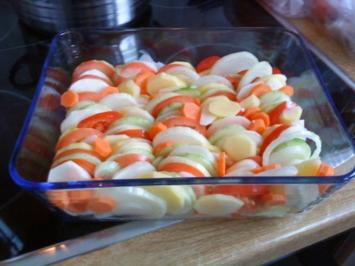 Süsskartoffel-Gemüse-Auflauf - Rezept