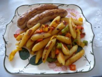 Rezept: Fixe Küche : Gemüseschupfnudeln mit Bratwurst und Nachtisch