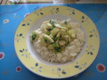 Grünes Curry mit Reis - Rezept