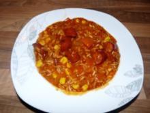 Paprika Eintopf mit Reis - Rezept