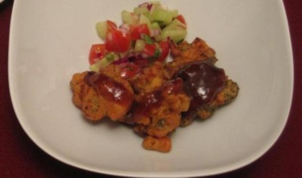 Gemüse-Pakoras mit Pflaumen-Mango-Chutney - Rezept