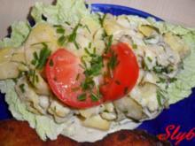 Salate:Kartoffelsalat mit Gurke und Majo - Rezept