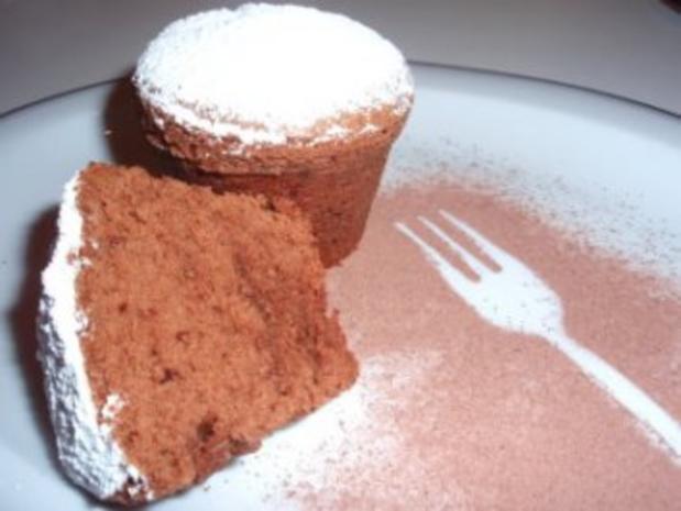 Muffins: Schokolade - Schnee - Muffins - Rezept