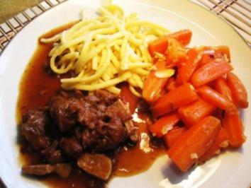 Rezept: Möhren-Gemüse mit Knoblauch und Mandeln