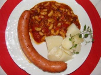 Gemüse : -Weiße Bohnen in Tomatensauce- - Rezept