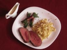 Black-Angus-Filet mit piemontesischen Eiernudeln in Gorgonzolasoße - Rezept