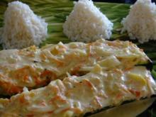 Zucchini mit Ingwer - Karottenfüllung - Rezept