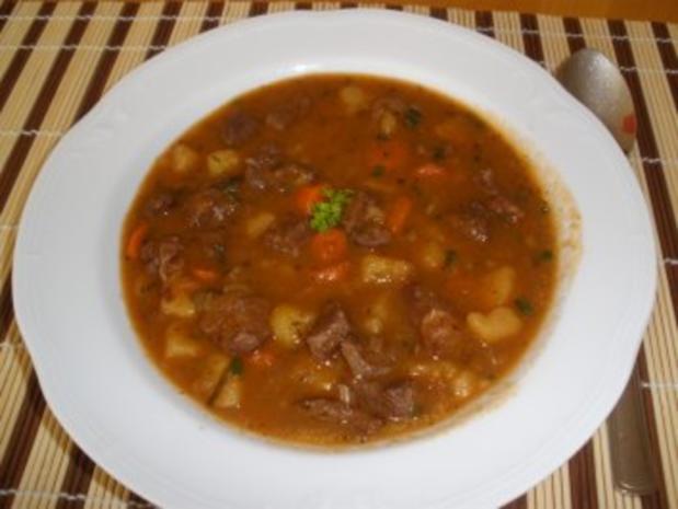 Fleischgerichte - Pikanter Rindfleischeintopf - Rezept