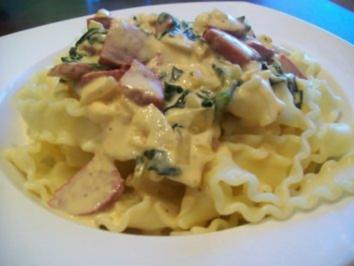 cremige Spinat - Pasta - Soße - Rezept