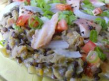 Linsensalat mit Räucherfisch - Rezept