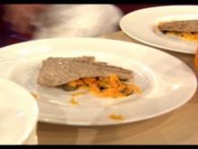 Provencialisches Kalbsschnitzel mit Oliven-Karottengemüse à la Zacherl - Rezept