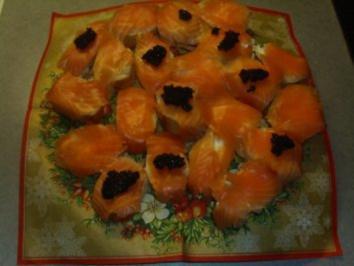 Buffets: Lachsschnittchen mit Meerrettichcreme - Rezept