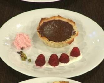 Schokoladentarte mit Himbeeren - Rezept