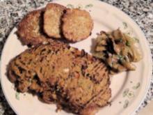 Rumpsteak mit überbackener Gemüse-Kräuterkruste - Rezept