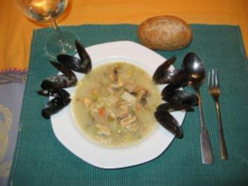 Rezept: Miesmuschelsuppe auf rheinische Art