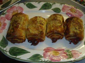 Pikante Kuchen: Scharfe Blätterteigröllchen - Rezept
