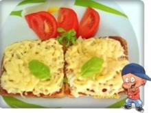 Thunfisch - Toastbrot mit Käse überbacken - Rezept