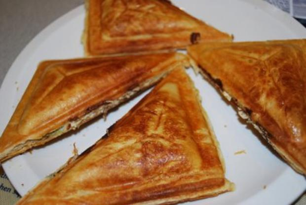 Sandwiches aus den Sandwichmaker - Rezept