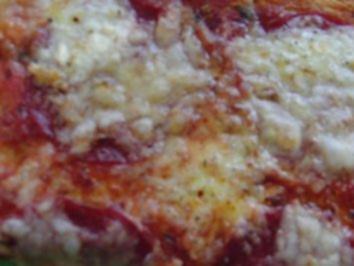 Pizza : Wenn´s schnell gehen muß, eine fantastische Salami-Pizza - Rezept