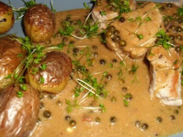 Schweinemedallions an Pfeffer-Cognac-Sauce - Rezept - Bild Nr. 5