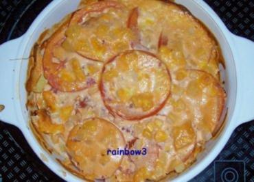 Auflauf: Kartoffel-Hähnchen-Auflauf - Rezept