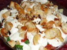Mozzarella - Brot - Schichtsalat - Rezept