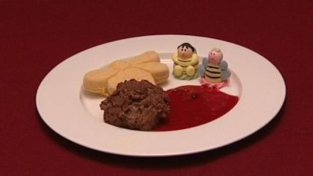 Mousse au Chocolat und Mangocrème (Klaus & Klaus) - Rezept