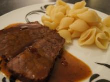 Rinderbraten mit Rotweinjus - Rezept