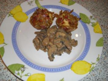 Nudelnester aus der Muffinform - Rezept