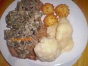 Kalbsschnitzel natur mit braunen Champignons - Rezept