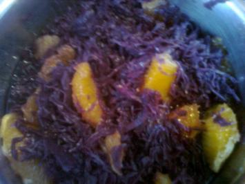 Rezept: Orangen - Sanddorn - Rotkraut