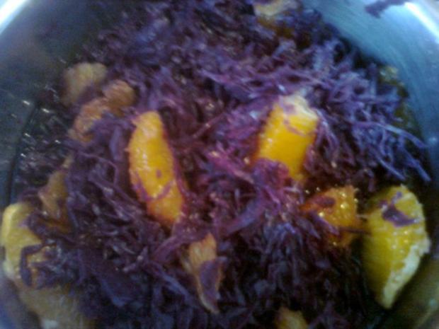 Orangen - Sanddorn - Rotkraut - Rezept