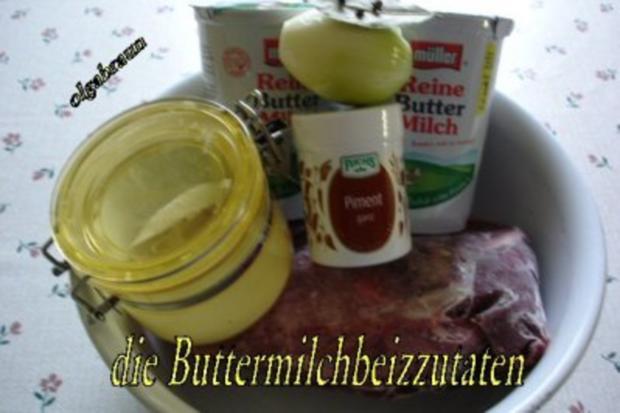 Rotwildkeule mit Hagebutten-Pflaumensauce - Rezept - Bild Nr. 2