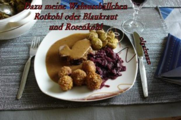 Rotwildkeule mit Hagebutten-Pflaumensauce - Rezept