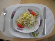 Sauerkraut mit Entercote, Pouletbrust und Salat - Rezept